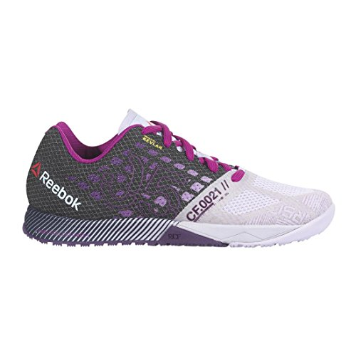 Reebok Women's R Crossfit Nano 5.0 Training Shoe, Lilac Ice/Black/Royal Orchid/Fierce Fuchsia, 7 M US