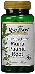 Swanson Full-Spectrum Muira Puama Root 400 mg 90 Caps