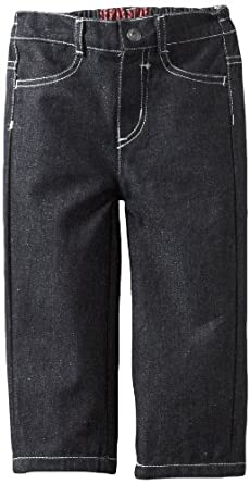 Watch Me Grow! by Sesame Street Baby-boys Infant Black Denim Woven Pant, Black, 24 Months