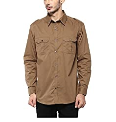 Yepme Men's Brown Cotton Shirts - YPMSHRT1112_44