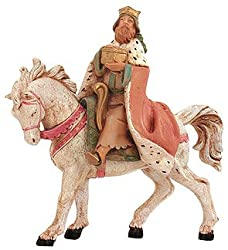 "Fontanini 5"" King Melchior On Horse Christmas Nativity Figurine #65285"