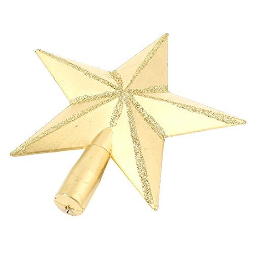 uxcell ツリートップスター クリスマスツリー飾り パーティー飾り 装飾 ゴールドトーン プラスチック製 19cm直径