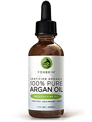 Best Cheap Deal for Foxbrim Organic Argan Oil - Unrefined, Virgin & Cold Pressed Moroccan Oil - For Hair, Skin & Nails - 60mL/2oz from Foxbrim - Free 2 Day Shipping Available
