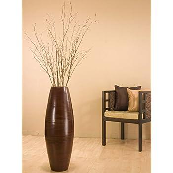 . Bamboo Cylinder Floor Vase