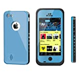 Pioneer Tech® Newest Waterproof Shockproof Dirt Snow Proof Durable Case Cover For Apple iPhone 5C (Blue)