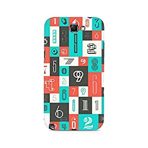 Ebby Abstract Number Premium Printed Case For Samsung Note 2