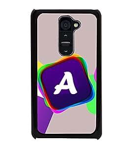 Alphabet A 2D Hard Polycarbonate Designer Back Case Cover for LG G2 :: LG G2 D800 D802 D801 D802TA D803 VS980 LS980