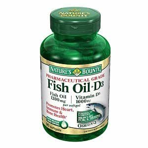 Nature 39 s bounty fish oil d3 1200mg 1000 for Wd 40 fish oil