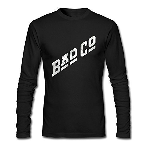 Bad Company Logo Long Sleeve Adult T-Shirt Black Size XXL Customized Teeshirt By Xuruw (Bad Company Band Tee compare prices)