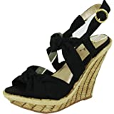 G2 Chic Women's Peep Toe Knoted Strap Design Wedge