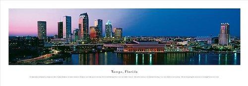TAMPA, FLORIDA skyline Panorama [Panoramic Photograph] Poster