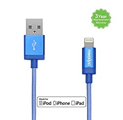 PowerXcel Apple Certified,MFI Lightning Cable, Fast Charging and Data Sync 2.4A, 1mtr 8 Pin Indestructible Cable for iPhone, iPad & iPod