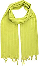 Sahiba Creation trendy and colourful women stole for all time wear(lemon green)