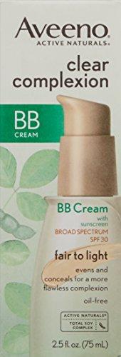 aveeno facial moisturizers clear complexion bb cream fair. Black Bedroom Furniture Sets. Home Design Ideas