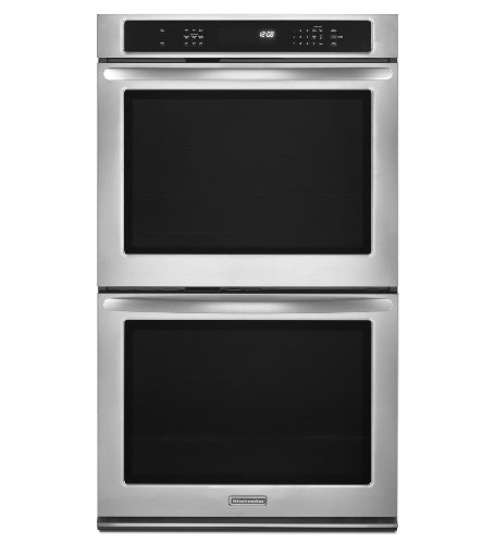 """Kitchenaid Kebs279Bwh Architect Ii 27"""" White Electric Double Wall Oven - Convection"""