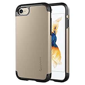 iPhone 7 Case, LUVVITT [Ultra Armor] Shock Absorbing Case Best Heavy Duty Dual Layer Tough Cover for Apple iPhone 7 - Gold