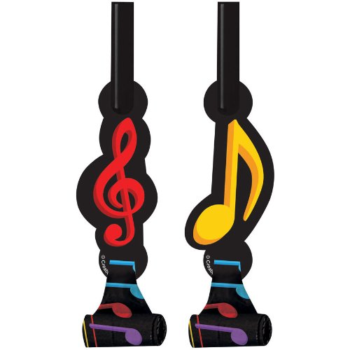 Dancing Music Notes Blowouts (8 per package)