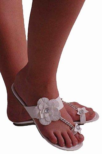 EyeCatchShoes - Womens Flower Flat Slip on Toepost