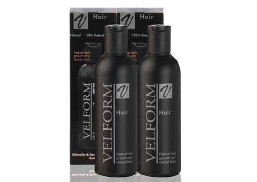 X 2 Bottles Velform Hair Grow Natural Tonic Stimulates Hair Growth Stop Hair Loss Hair Fall 200 Ml.