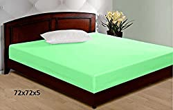 Jars Collections Non- Wooven Laminated Mattress Protector - 72 X 72 Inches, Green