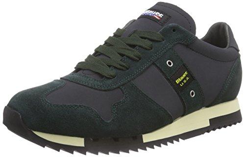 Blauer USARUNLOW/LEA - Sneaker uomo , Verde (Grün (DK GREEN/DK GREY)), 44