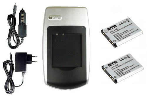 2 Akkus EN-EL10 + Ladegerät für Nikon Coolpix S60 S80 S200 S210 S220 S230...+ weitere, siehe Liste!