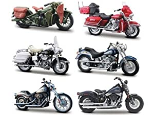 Collectable Diecast Set of 6- Harley-Davison Motorcycles Series 26 1/18 at Sears.com