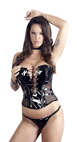 Black-Level-Bustier-en-Vinyle-Noir