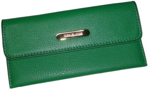 Michael Kors Leather Austin Flap Continental Wallet Gooseberry
