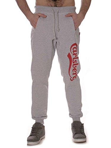 Pantalone Carlsberg in Felpa Garzata Cbu1565 Made in Italy Grigio chiaro, XL MainApps