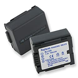 Panasonic VDRD210 Replacement Video Battery