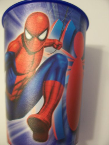 Marvel The Amazing Spiderman 16 oz Plastic Cup by Hallmark ~ Spidey on Blue