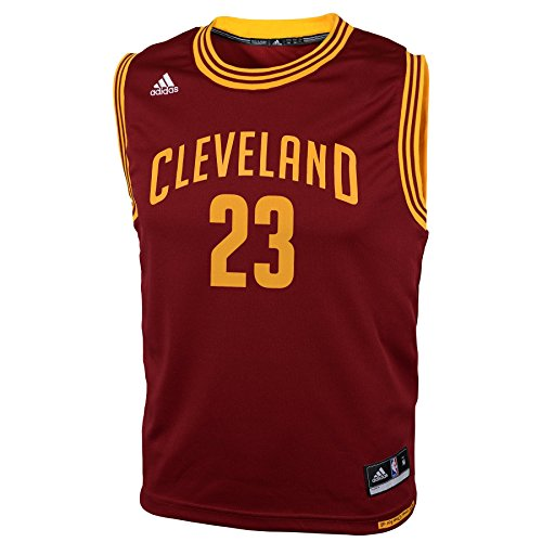 Lebron James Cleveland Cavaliers Youth Bambini Adidas NBA Replica Jersey Maglia - Red