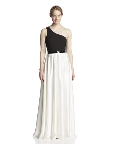 A.B.S. by Allen Schwartz Women's Belted One-Shoulder Gown