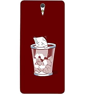 Casotec Trash Design Hard Back Case Cover for Sony Xperia C5 Ultra Dual