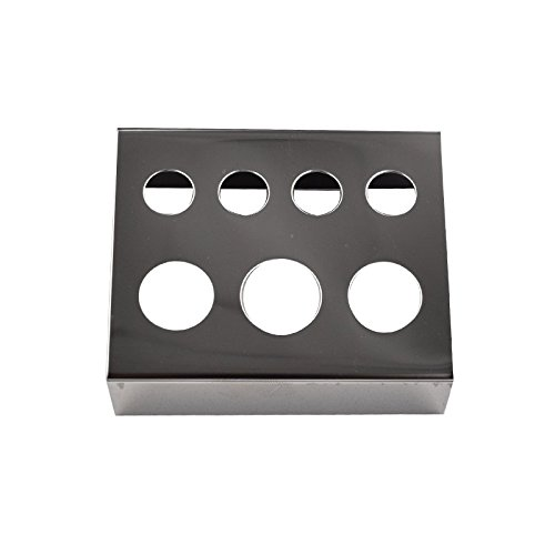 Stainless Steel Tattoo Pigment Ink Cup Caps Holder Stand for 7 Caps Machine Supply