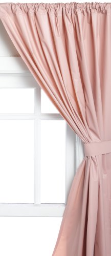 Carnation Home Fashions Vinyl Bathroom Window Curtain Rose 45 X 36