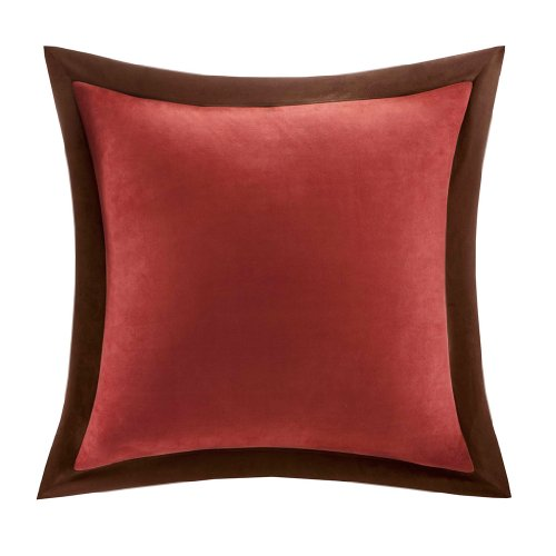 Red Euro Pillow Shams