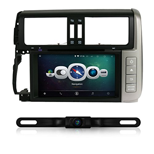 IOKONE Android 4.4 Double DIN Car Stereo with DVD GPS Navigation Radio for Toyota Prado 2010-2013 Support 3G Wifi Audio Input Bluetooth USB SD FM AM RDS SWC Mirror Link (Mirror For Toyota Prado compare prices)