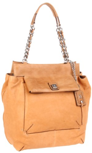 Olivia Harris Square Flap Shoulder Bag, Stone
