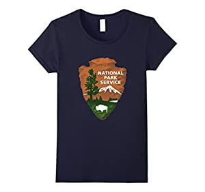 Women's US National Parks Signs T-shirt Small Navy