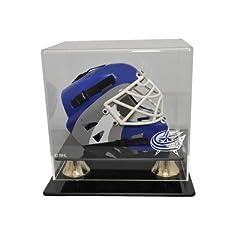 NHL Mini Hockey Helmet Display Case in Horizontal View NHL Team: Columbus Blue... by Caseworks
