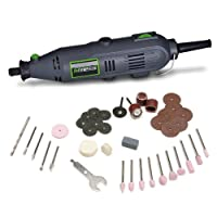 Genesis GRT2103-40 VS Rotary Tool with 40 Accessories, Grey by Richpower Industries, Inc.