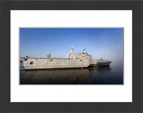 framed-print-of-the-littoral-combat-ship-uss-independence-pulls-away-from-the-pier-for