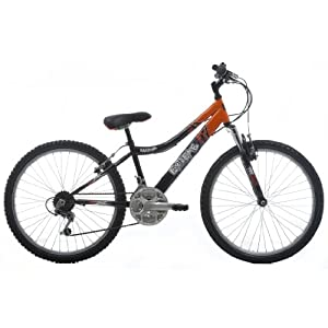 EXTREME by Raleigh Daytona Boys Boys Mountain Bike - Black/Orange, 24-inch Wheel, 13 Inch Frame