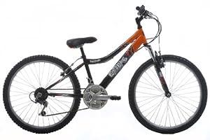 EXTREME by Raleigh Daytona Boys Boys Mountain Bike - Black/Orange, 24-inch Wheel, 13 Inch Frame