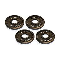 Get Body Power Cast Iron Olympic Discs - 1.25kg (x4) -image