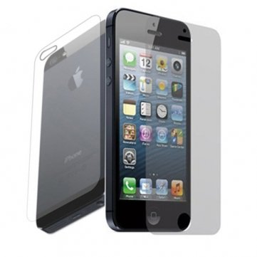 Apple iPhone 5 Anti Glare/Matte Front and Clear Back Screen Protector (Pack of 2)