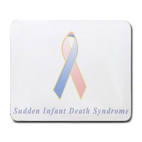 Sudden Infant Death Syndrome Awareness Ribbon Mouse Pad front-136112