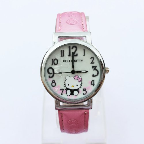 Super Cute Hello Kitty Wrist Watch Girls Gift Free Shipping- Pink